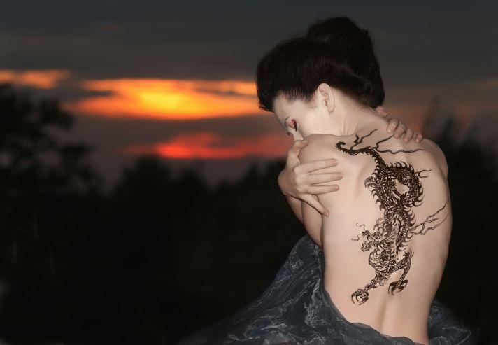 Tattoos Drachen Motive