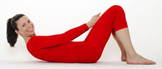 Kräftigung der geraden Bauchmuskulatur: Position 2