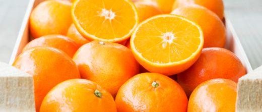Orangen in Kiste