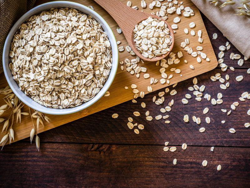 Haferflocken: Vitamin B2 in Lebensmitteln