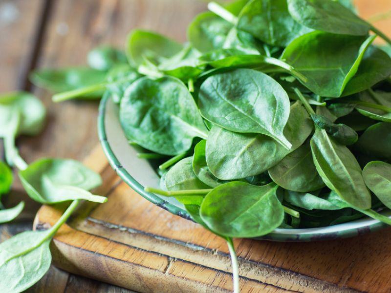 Spinat: Platz 11 der eisenhaltigen Lebensmittel