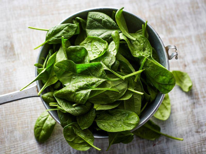 Lebensmittel mit Vitamin K: Spinat