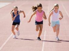 Sport,laufen,Kinder,Sprint,Mädchen