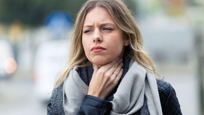 Kloß im Hals: Für das unangenehme Gefühl gibt es einen Grund