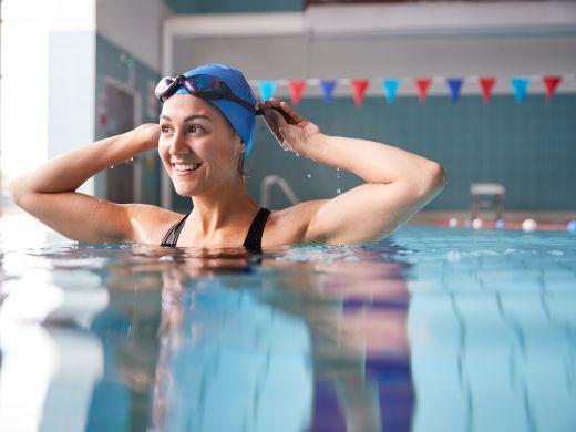 Schwimmen für einen starken Rücken