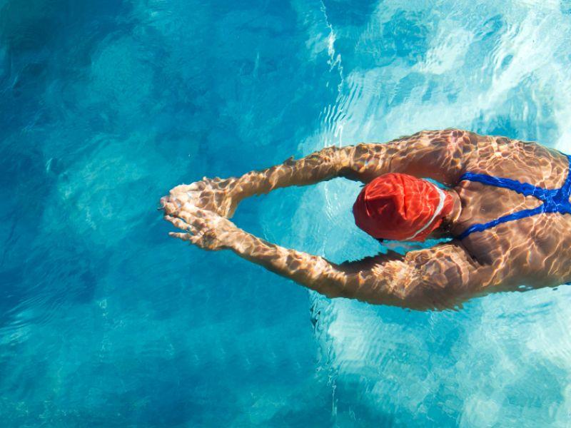 Rückenschwimmen und Kraulen