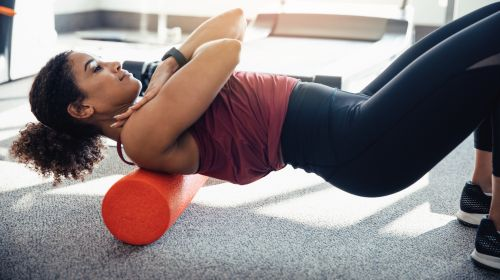 Blackroll: exercises with the fascia roller